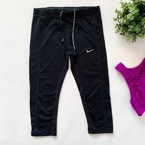 Nike Dri-Fit Black Workout Capri Leggings